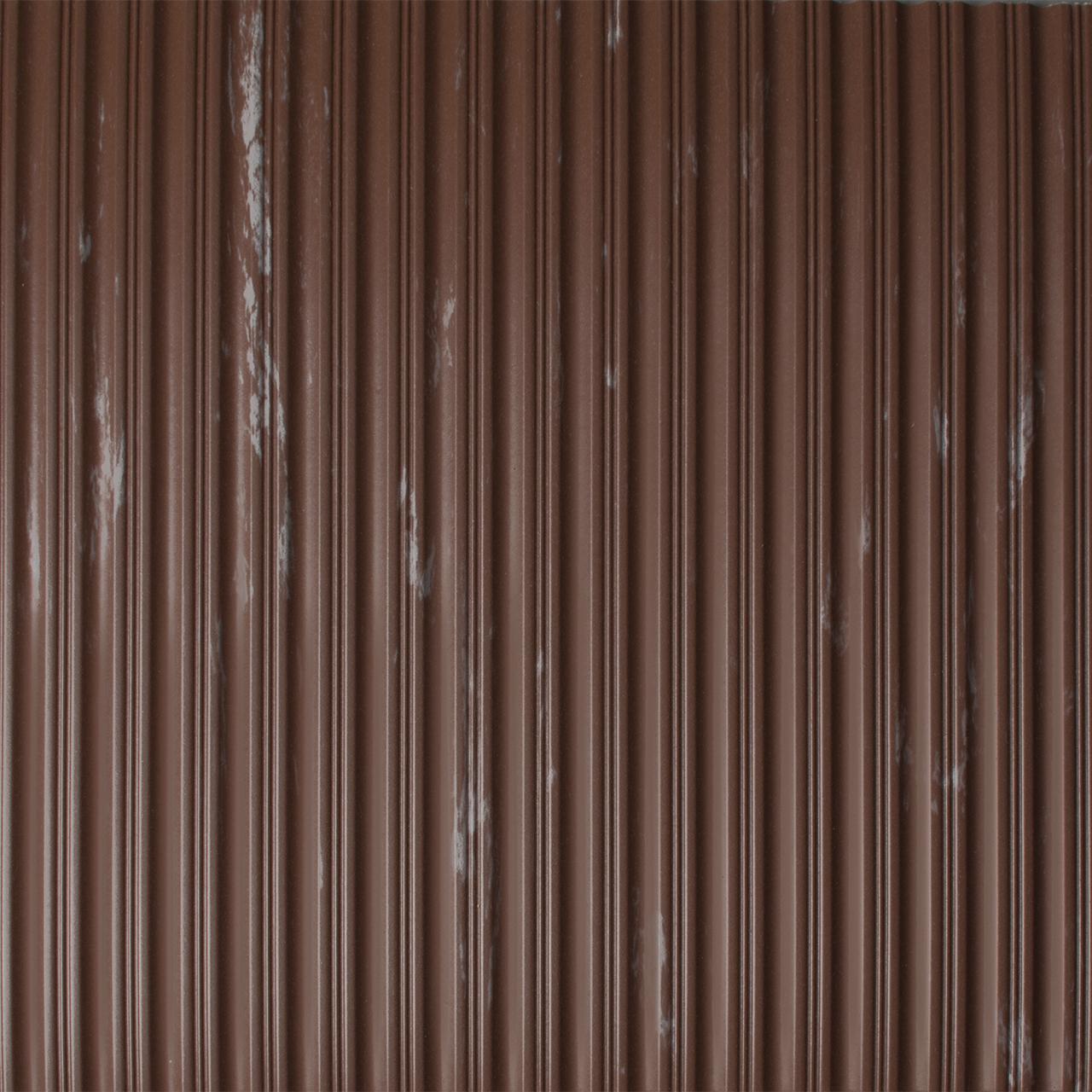 Drainage Matting   Ribbed Mat   Flat Rib Mahogany