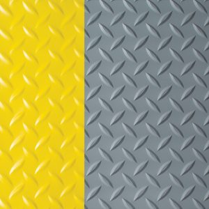 Deckplate Matting Yellow Gray