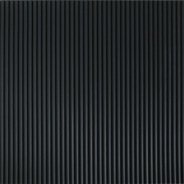 Corrugated Matting Black